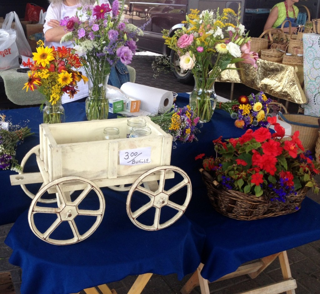 One of the flower stands - that even offered to make an arrangement for you.